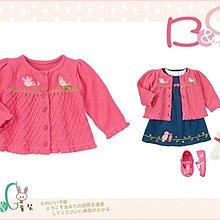 【B& G童裝】正品美國進口GYMBOREE 小鳥圖樣粉紅色針織長袖外套12-18mos