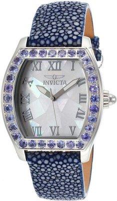 展示品 Invicta 17286 Angel Tanzanite Accented Blue Stingray Strap Womens Watch
