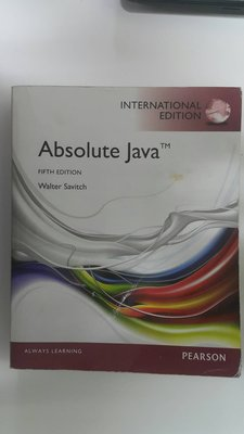 Absolute Java FIFTH EDITION Walter Savitch