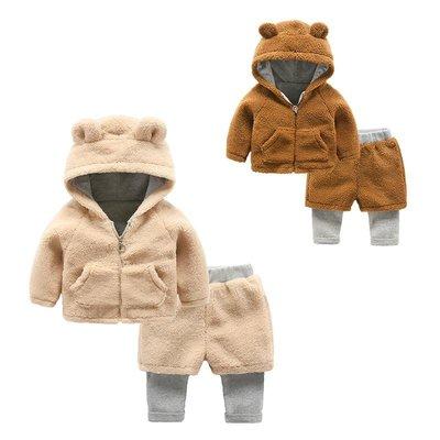 有家服飾男寶寶套裝冬季一歲3-6個月女嬰兒加厚衣服秋冬新生兒兩件套冬裝