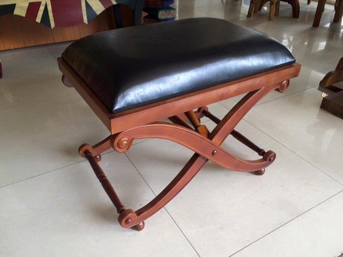土耳其小牛皮實木椅(穿鞋椅/床尾椅/展示)[布拉格家居]