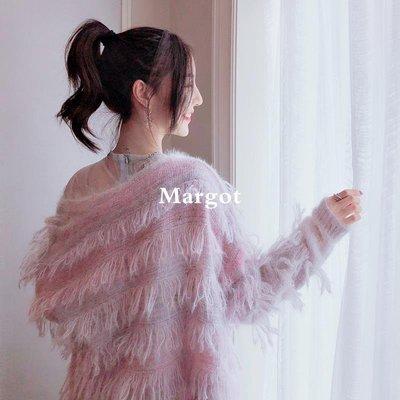 [Margot]2018秋裝新款CHIC溫柔風長袖上衣女短款網紅毛衣開衫外套冬季