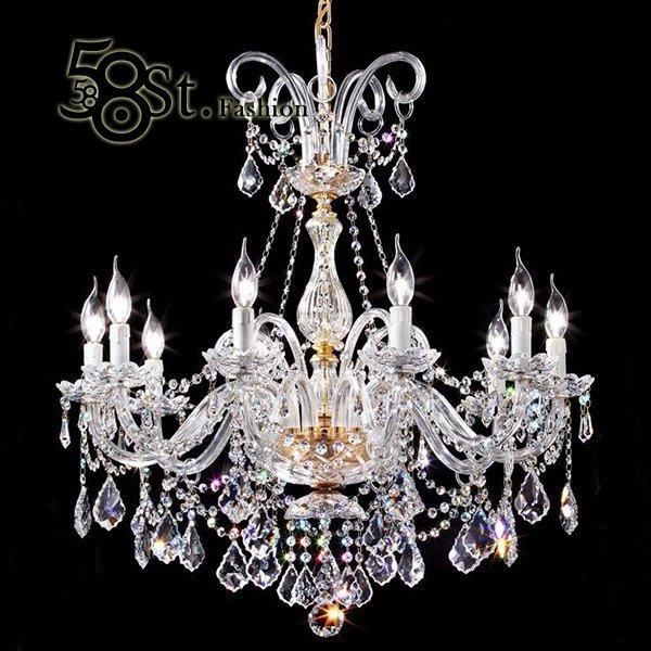 【58街】swarovski 施華洛世奇水晶珠「台灣製造高檔水晶吊燈飾」美術燈,複刻版。GH-463