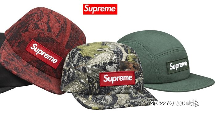 【超搶手】全新正品2015 秋冬Supreme True Timber Camp Cap 立體Box貼布 五分割帽 三色