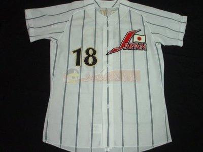 貳拾肆棒球-珍藏品!Mizuno日本代表日職棒選手達比修主場球衣