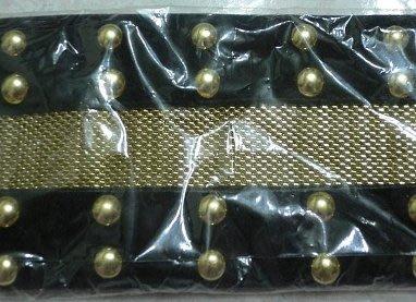 全新 百貨購買 超特別 bling bling 雙扣頭 個性 金屬 搖滾 卯釘 龐克 寬版 皮帶 腰封 原價1980
