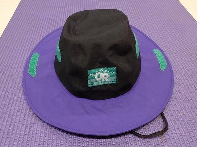 現貨二手美品 Outdoor Research Seattle Sombrero OR GORETEX 防水透氣大盤帽 登山帽 復古黑紫