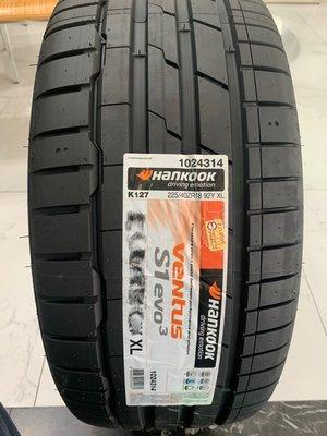 CR輪業 全新 韓泰 HANKOOK VENTUS S1 EVO3 K127 225/40/18 完工價:3100