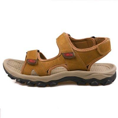 涼 鞋 真皮拖鞋-戶外休閒清涼透氣男鞋子3色73sa17[獨家進口][米蘭精品]