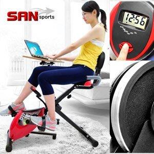 【推薦+】SAN SPORTS 超跑飛輪式磁控健身車C082-923臥式臥式車懶人車X型BIKE美腿機折疊腳踏車摺疊自行