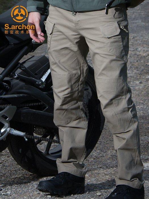 衣萊時尚-夏季教官戰術褲ix7修身指揮工裝特種兵9戶外男裝軍迷寬松作訓執政