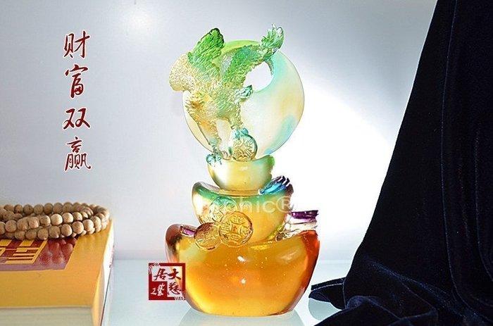 INPHIC-開運 琉璃開光擺件 原裝家庭禮品平安吉祥品擺設財富雙贏鷹