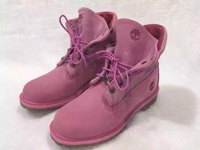 ╭☆包媽子店☆Timberland 新款 粉紅色牛皮機車靴