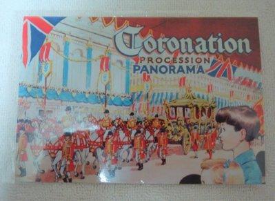 CORONATION PROCESSION PANORAMA 女王加冕遊行 明信片