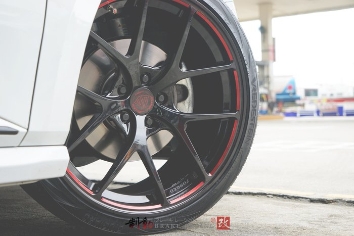 NASHIN FORGED 世盟單片訂製 E-108 鍛造鋁圈 Superb Combi-Škoda 實著 / 制動改