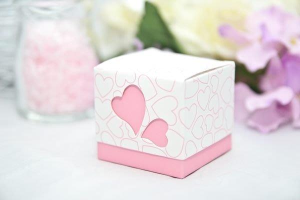 ☆命中注定☆摟空雙心喜糖盒,喜糖盒,婚禮小物.