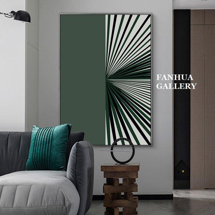 C - R - A - Z - Y - T - O - W - N 綠色高檔時尚空間抽象掛畫新成屋住宅美學空間時尚裝飾畫