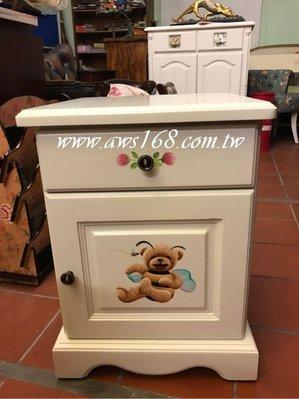 熊熊寶貝床頭櫃 彩繪床頭櫃