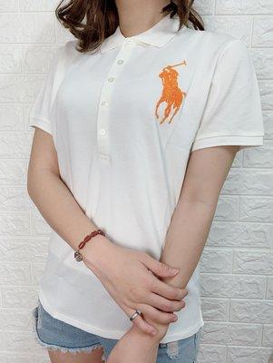 Look 鹿客 POLO Ralph Lauren 女款  限量款大馬串珠系列長袖POLO衫-白05256-000