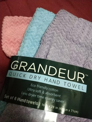 好市多熱銷 Grandeur 快乾毛巾 100%棉 速乾毛巾 多色可選
