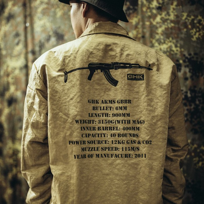 "GHK ""Veteran Collection"" Coach Jacket G-002 教練外套/卡其色"