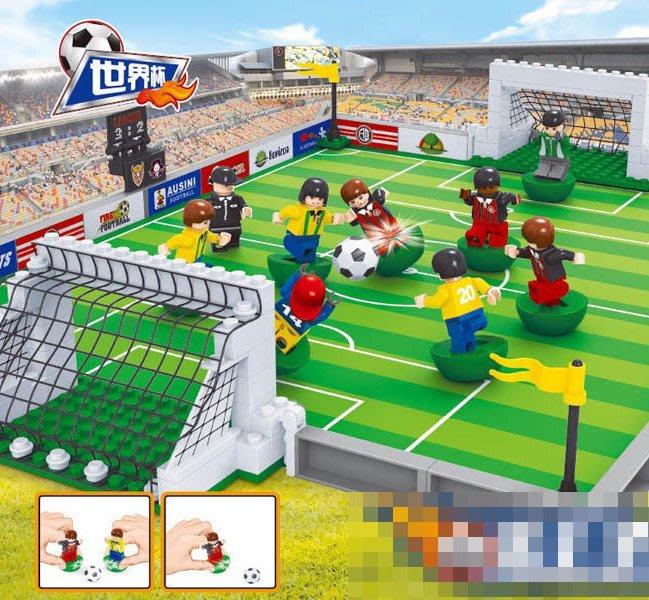 積木人玩具收藏 世界盃足球場隊 梅西西羅內瑪律莫德里奇_☆找好物FINDGOODS ☆