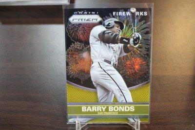 Barry Bonds~2015 Prizm FIREWORKS 限量10張 GOLD REFRACTOR 金亮煙火特卡