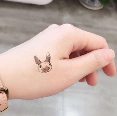 【萌古屋】Y系列可愛兔子 - 男女防水紋身貼紙刺青貼紙Y-141 K13