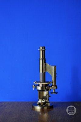【BRASS PARK 銅公園】歐洲 D'O Hiebery 古董顯微鏡    老件/顯微鏡/retro/antique