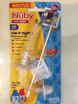 瘋狂寶寶~~nuby卡拉雙耳彈跳吸管杯 360度 替換吸管 100元 048526103461