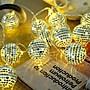 銀色水晶球 LED電池燈串 3米30燈暖白光 小彩...