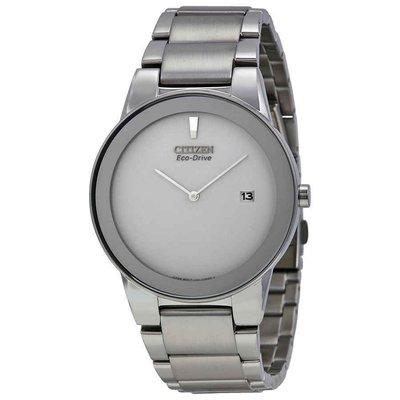【換日線】男錶 Citizen Eco Drive Axiom Grey Dial Men's Watch AU1060-51A
