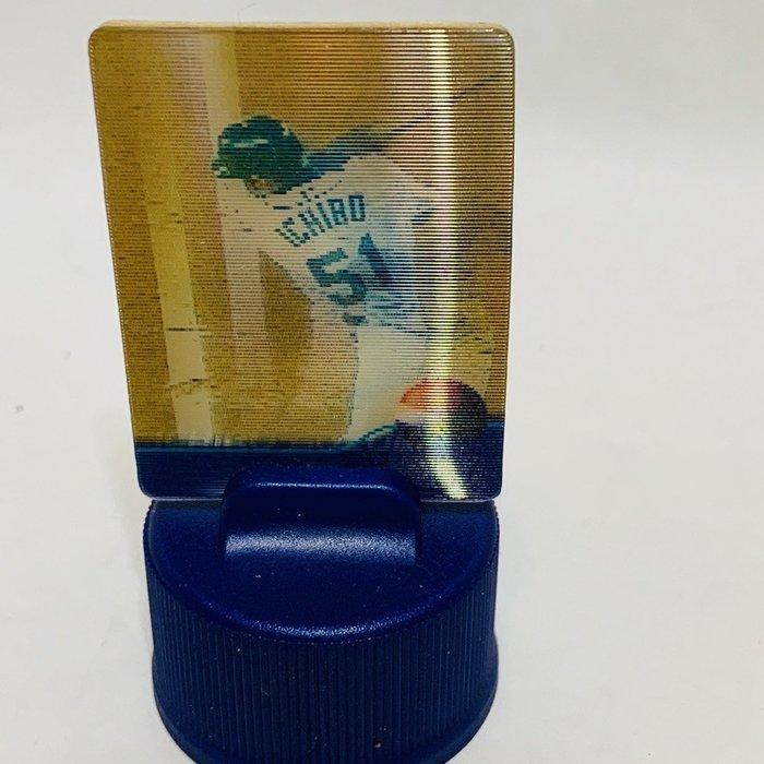 貳拾肆棒球-絕版品!日本帶回 美國職棒大聯盟MLB鈴木一朗ichiro 球員卡造型PEPSI瓶蓋板/4