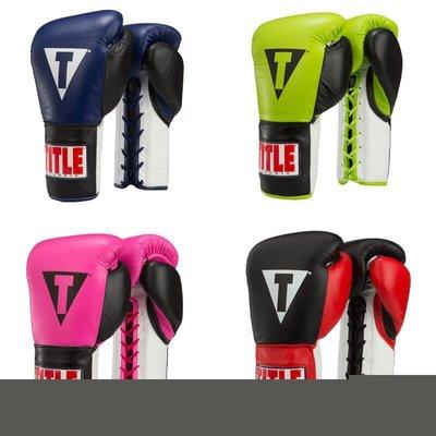 TITLE CLASSIC CORRUPT PRO FIGHT GLOVES真皮職業拳擊比賽拳套@03155