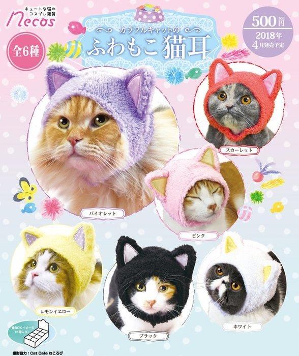 ✤ 修a玩具精品 ✤ ☾現貨盒裝☽ 日本 正版 necos 貓咪頭巾 七彩貓的蓬鬆貓耳朵 一中盒8入 優惠販售中