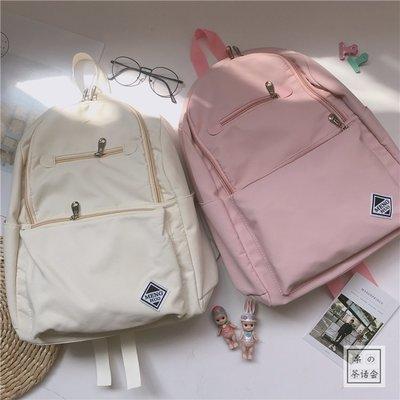 雙肩包 帆布書包 書包 背包 日系 日系ins軟妹書包女 校園小清新學院風學生背包雙肩包森