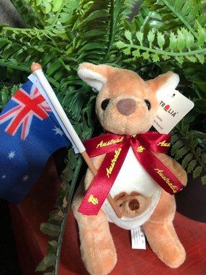 澳洲袋鼠娃娃(澳洲國旗酒紅緞帶版)澳洲製造