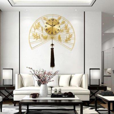 日和生活館 大氣創意客廳鐘錶家用石英掛鐘藝術中國風大號奢華中式豪華電子鐘S686