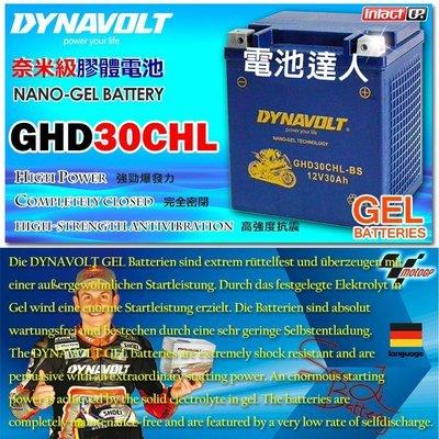 ~電霸科技~藍騎士 機車電池 GHD30CHL~BS YTX30L GTX30L 水上摩托