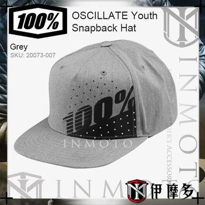 伊摩多※美國 RIDE 100%童款 卡車帽 嘻哈帽OSCILLATE Youth Hat 20073-007灰