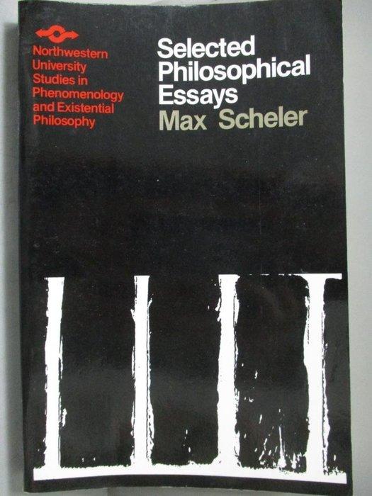 【書寶二手書T3/哲學_ZBL】Selected Philosophical Essays_Scheler, Max