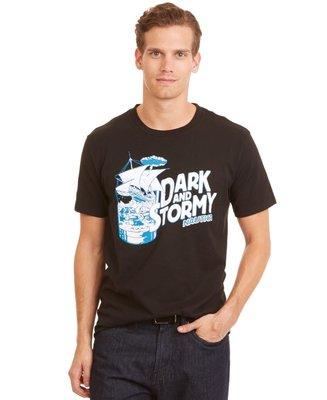 美國百分百【全新真品】Nautica T恤 圓領 帆船牌 T-SHIRT 短袖 上衣 短T 男款 黑色 L號 C857