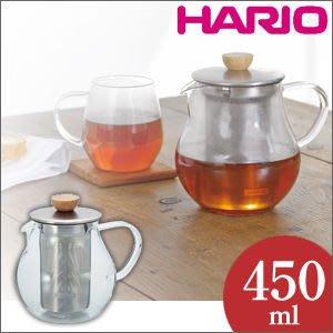 《散步生活雜貨-CAFE散步》日本進口 HARIO-Tea Pitcher 耐熱玻璃壺(附濾器) 450ML TPC-45HSV