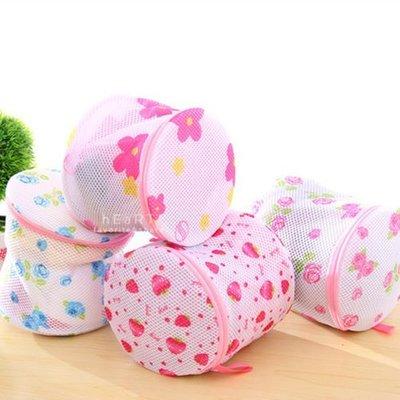 【可愛村】印花貼身衣物丸型雙層洗衣袋 內衣洗衣網 貼身衣物袋 圓柱形洗衣袋 衣物袋