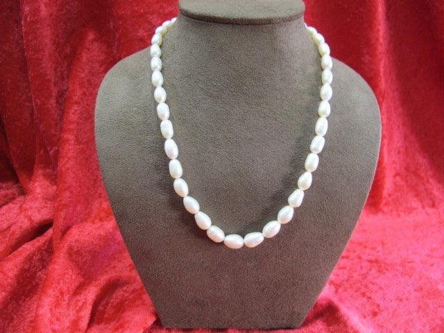 二手舖~ NO.13 天然珍珠項鍊 母親節 手鍊戒指墜子首飾手環耳環 (珍珠大小約6-11mm)