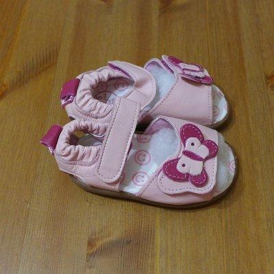 [[W&R]] ((0-24m)) Shooshoos 真皮膠底鞋 US5, US8 涼鞋(粉色) 天然染料
