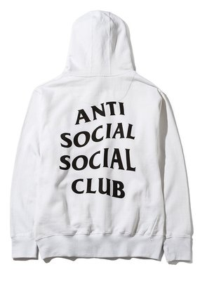 YZY|AntiSocial Social Club MIND GAMES 經典 Hoodie 帽T 黑印 WHITE