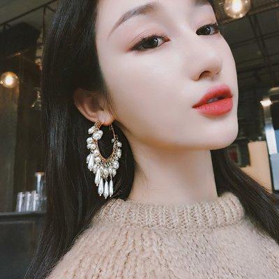配飾耳環項鏈戒指2018新款韓國耳環女秋冬設計感耳釘小眾氣質個性夸張網紅珍珠耳墜