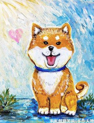 ~米米咖啡藝廊~ 可愛狗狗壓克力畫,可客製訂做您的可愛寵物喔!