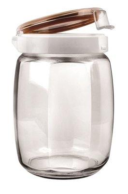 KIYODO 八角儲物密封罐 1.5L (1500ml) (收納罐 糖果罐 密封瓶 玻璃瓶 玻璃罐)